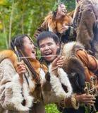 Ureinwohner von Kamchatka-Tanzen auf Fest lizenzfreies stockfoto