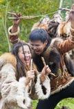 Ureinwohner von Kamchatka-Tanzen auf Fest stockfoto