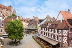 Νuremberg i Tyskland Arkivfoton
