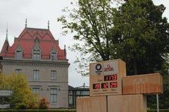 Uren van aftelprocedure voorafgaand aan de zomerolympische spelen in Tokyo Lausanne, Zwitserland stock foto's