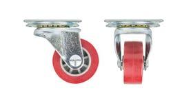 Uretano industrial na roda plástica do núcleo isolada no fundo branco Imagem de Stock Royalty Free