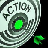Urgence d'expositions d'action urgente ou acte de motivation illustration de vecteur