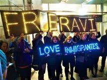 Urgence pour libérer Ravi- 11 janvier 2018 - nouvel York NY LES Etats-Unis Photo libre de droits