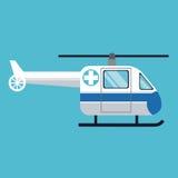 Urgencia del hospital del transporte del helicóptero stock de ilustración
