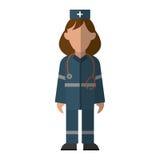 Urgencia del paramédico de la mujer que lleva el estetoscopio uniforme libre illustration