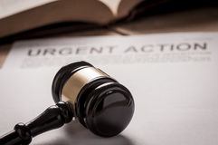 Urgent Action. With gavel. Class action concept royalty free stock photos