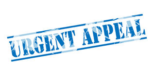 Urgent appeal blue stamp Royalty Free Stock Image