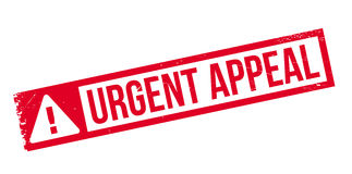 Urgent Appeal rubber stamp Royalty Free Stock Photo