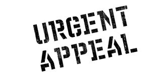 Urgent Appeal rubber stamp Stock Image