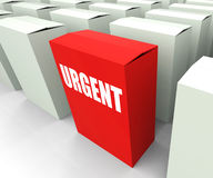 Urgent box Refers to Urgency Priority and Critical Stock Photo
