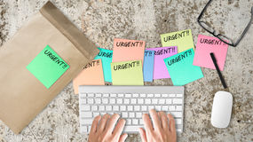 Urgent busy work. Royalty Free Stock Images