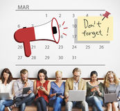 Urgent Calendar Plan Planning Organizer Concept Stock Photos