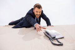 Urgent call. Stock Images