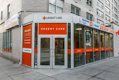 Urgent Care location. New York, January 21, 2017: Northwell Health urgent care office on Amsterdam Avenue is open to walk-in customers stock photos