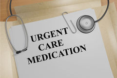 Urgent Care Medication concept Royalty Free Stock Photo