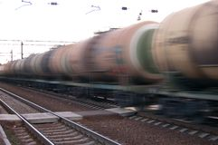 Urgent cargo. Rush freight train Royalty Free Stock Photography