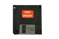Urgent computer disk Royalty Free Stock Photo