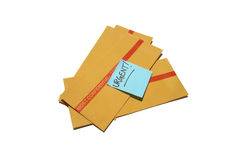 Urgent and Confidential Business. Most Confidential envelopes that need to be taken care of in an urgent manner... very important Royalty Free Stock Image