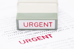 Urgent document, bank statement. Financial concept Stock Photos