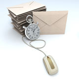Urgent e-mail Stock Photography