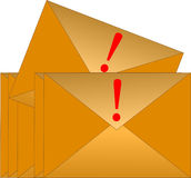 Urgent Email Envelope royalty free stock photos