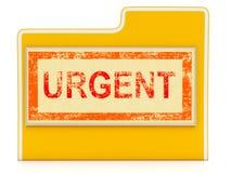 Urgent File Shows Speedy Rush Priority Data Stock Images