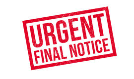 Urgent Final Notice rubber stamp. Grunge design with dust scratches. Effects can be easily removed for a clean, crisp look. Color is easily changed Royalty Free Stock Image