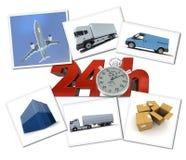 Urgent freight transportation Stock Images