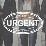 Urgent High Quality Brand Stamp Concept Stock Photography
