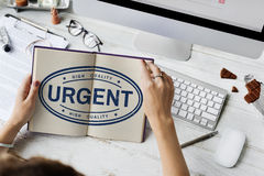 Urgent Important Priority Stamp Word Concept Stock Photography
