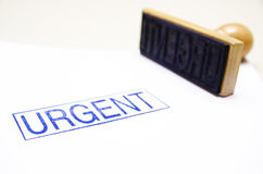 Urgent!. Urgent ink stamp in english royalty free stock images