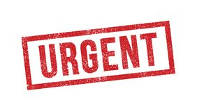 Urgent ink stamp Royalty Free Stock Photo