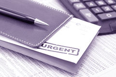 Urgent letters Royalty Free Stock Image