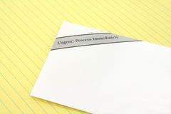 Urgent mail Stock Image