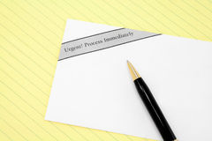 Urgent mail Royalty Free Stock Images
