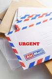Urgent Mail. To be deliver royalty free stock photo