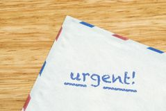 Urgent mail envelope Royalty Free Stock Photography