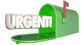 Urgent Message Note Letter Mailbox Communication Royalty Free Stock Image