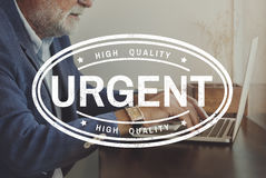 Urgent Necessary Essential Important Concept royalty free stock image