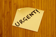 Urgent Note Stock Photos