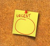 Urgent note #2 Royalty Free Stock Photos