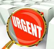 Urgent Packet Refers to Urgency Priority and Critical. Urgent Packet Referring to Urgency Priority and Critical Stock Image