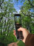 Urgent photo. Hand holding a camera phone and taking urgent photo Stock Photos