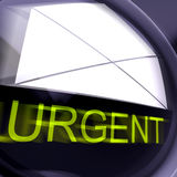 Urgent Postage Means High Priority Or Very Important Mail Royalty Free Stock Photography