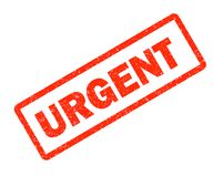 Urgent red rubber stamp on white background. urgent sign. text royalty free illustration