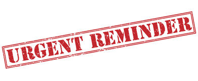 Urgent reminder red stamp Royalty Free Stock Photos