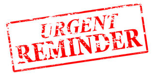 Urgent reminder Royalty Free Stock Images