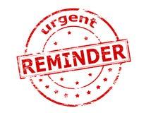 Urgent reminder. Rubber stamp with text urgent reminder inside,  illustration Royalty Free Stock Image