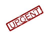 Urgent rubber ink stamp Royalty Free Stock Photos