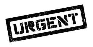 Urgent rubber stamp Royalty Free Stock Images